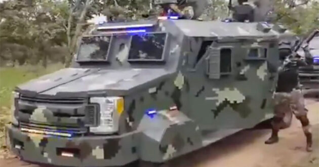 Armored vehicle that appeared in one of the cartel's videos is believed to be a modified Ford F-250 Super Duty XLT. 2 convoy videos were the work of Jalisco cartel's 'Elite Group:' army chief